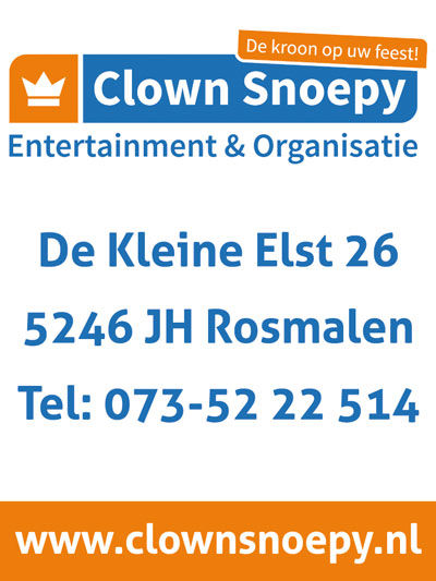 Clown Snoepy Entertainment en Organisatie